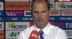 """Parla de Boer: """"Delusi, dopo lo svantaggio abbiamo perso la testa ma con la Juve..."""""""