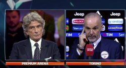 """Litigio in diretta tv Pioli-Cesari, il tecnico nerazzurro: """"Non so se sei meglio da opinionista o da arbitro"""" [VIDEO]"""