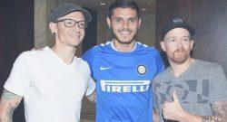 """Mauro Icardi ricorda Chester Bennington: """"Terribile notizia, riposa in pace amico mio"""""""