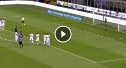 Gol di Mauro Icardi che realizza dal dischetto! Inter 1 Fiorentina 0 [VIDEO]