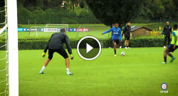 Inter, gran gol di Dalbert in allenamento. Spalletti si diverte con Karamoh [VIDEO]