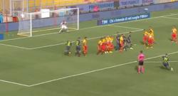 Raddoppio di Brozovic su punizione! Inter-Benevento 2-0! [VIDEO]