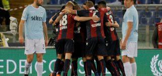 La Lazio fa 1-1 contro il Bologna, l'Inter è quarta. Albiol lancia il Napoli a -2 dalla Juve