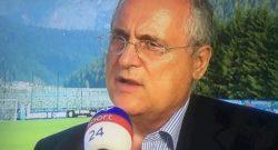 """Mercato Inter, Lotito: """"Milinkovic-Savic? Non gli tarperemo le ali. Se arrivasse un'offerta…"""""""