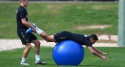 Sky – Inter, buone notizie da Barella e Sanchez: prima parte della seduta in gruppo. A parte…