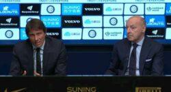 """Conte: """"Vogliamo Inter credibile, grande sintonia"""". Marotta: """"Rosa più larga ma senza grandi spese"""""""
